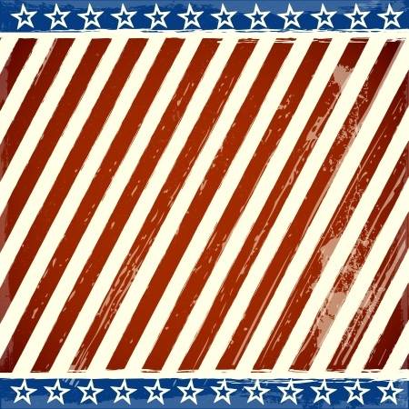 detailed illustration of a patriotic stars and stripes background with grunge elements
