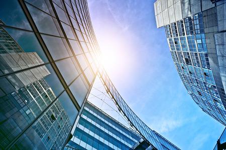 Foto de modern glass and steel office buildings near Potsdamer Platz, Berlin, Germany - Imagen libre de derechos