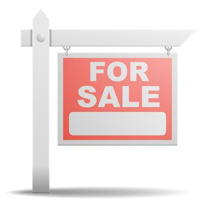 detailed illustration of a For Sale real estate sign