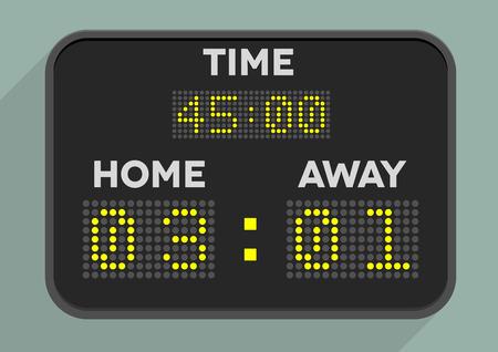 minimalistic illustration of a sports scoreboard