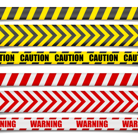 detailed illustration of Caution Lines, vector
