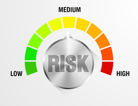 detailed illustration of a risk meter,  vector