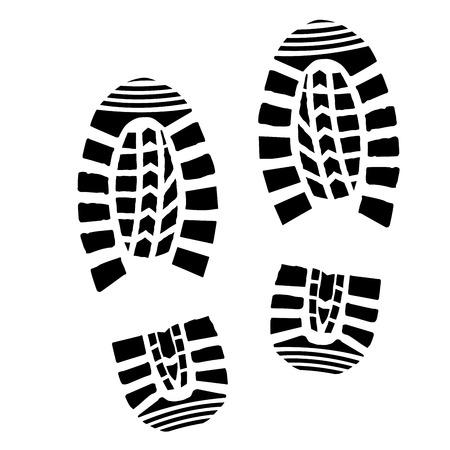 Illustration for detailed illustration of simple shoe prints - Royalty Free Image