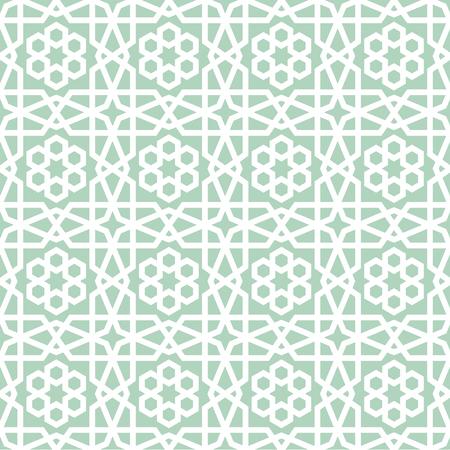 Illustration pour detailed illustration of a seamless geometric arabic pattern, eps10 vector - image libre de droit