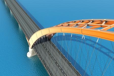 Bridge over the ocean  3d illustration