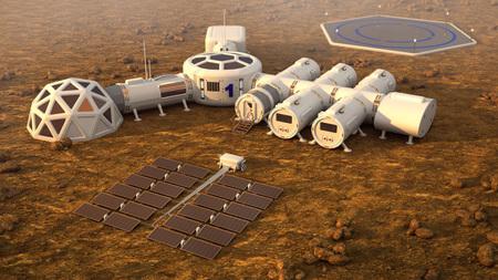 The colony on Mars. Autonomous life on Mars