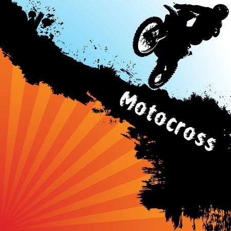 Illustration pour Vector motocross background. Clip-art - image libre de droit
