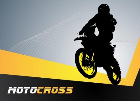 Illustration pour Vector motocross  Clip-art - image libre de droit