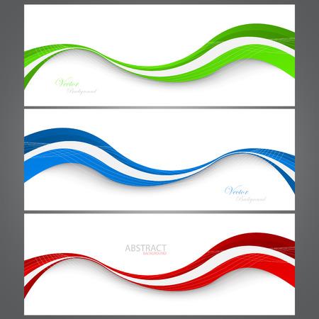 Illustration pour Collection banners modern wave design. Ð¡olorful background. Vector illustration. Clip-art - image libre de droit