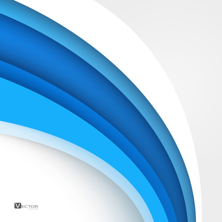 Illustration pour Blue modern abstract lines swoosh certificate - speed smooth wave border background. Vector illustration. Clip-art - image libre de droit