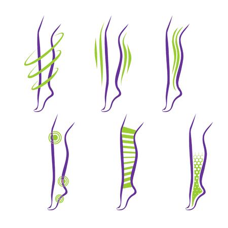 Legs. Problems and treatment - medical massage, compression garment, balms