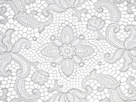 Photo pour lace floral Pattern on white background - image libre de droit
