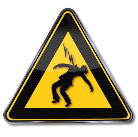 Caution High Voltage plate