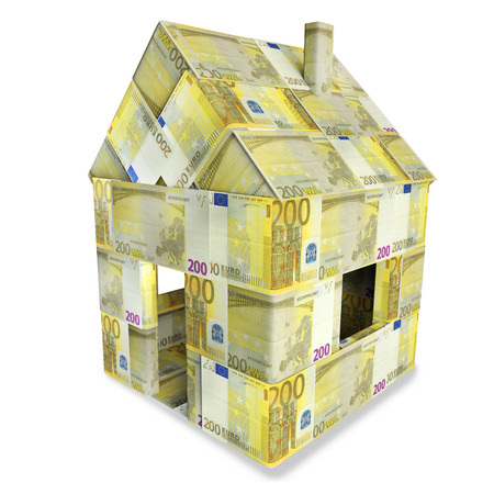 House of 200 euro bills
