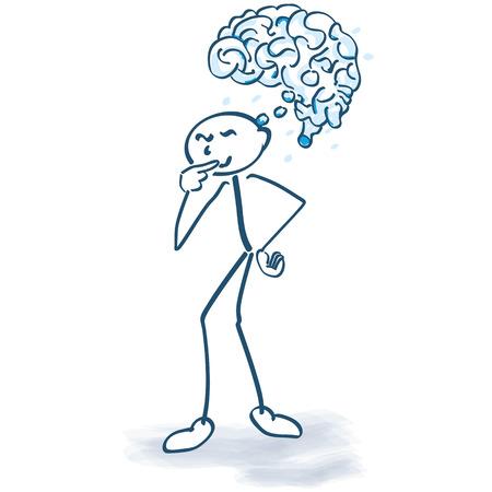 Stick figure with a brain