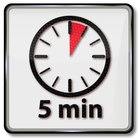 Clock with 5 minutes