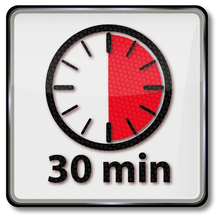 Clock with 30 minutes