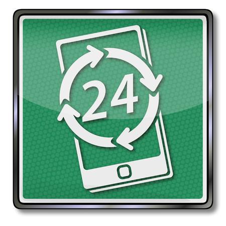 Smartphone and service around the clock