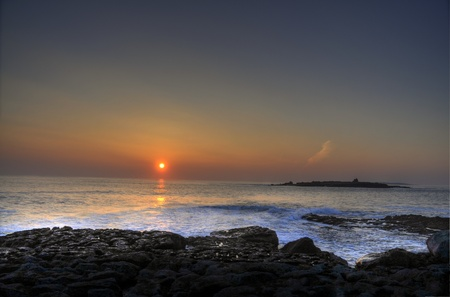 photo breathtaking sunset over doolin beach, county clare, ireland, hdr