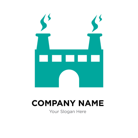 factory company logo design template, Business corporate vector icon