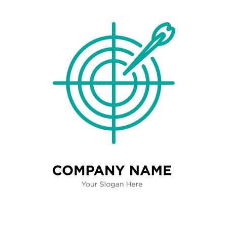 Darts company logo design template, Business corporate vector icon
