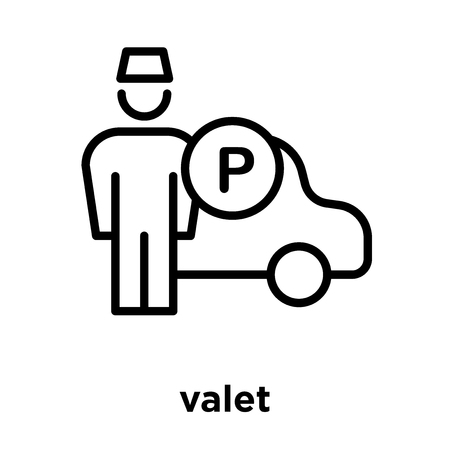 valet icon isolated on white background, vector illustration