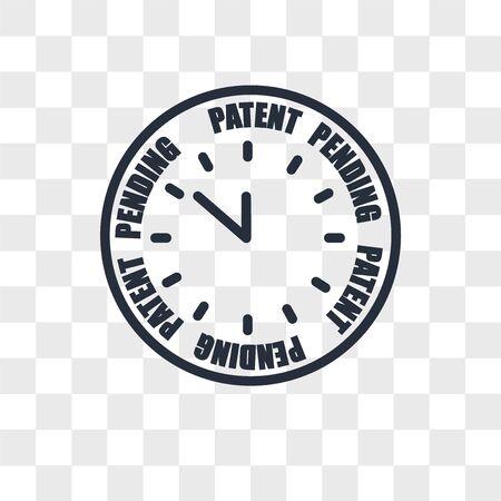 Illustration pour patent pending vector icon isolated on transparent background, patent pending logo concept - image libre de droit
