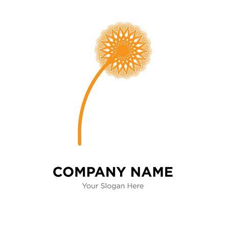 dandelion company logo design template, Business corporate vector icon