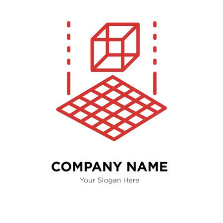 3d cube company logo design template, 3d cube logotype
