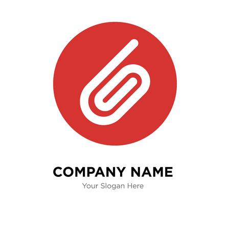 Ilustración de Attachment company logo design template, Attachment logotype vector icon, business corporative - Imagen libre de derechos