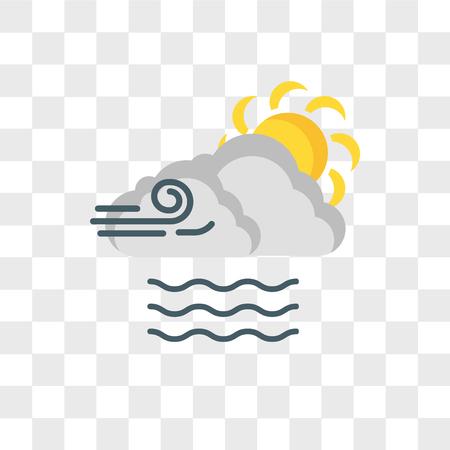 Illustration pour Foggy vector icon isolated on transparent background, Foggy logo concept - image libre de droit