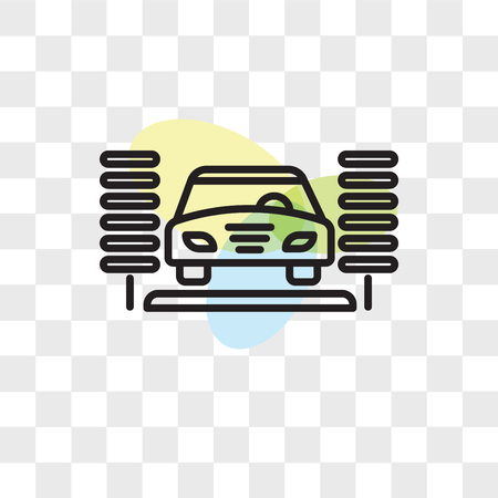 Car Wash Vector Icon Isolated On Transparent Background Car Wash