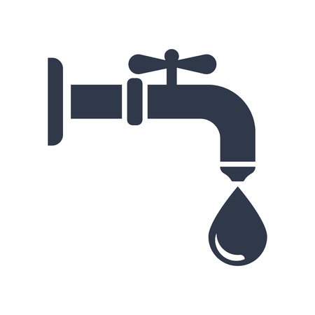 Illustration for Water tap icon vector isolated on white background for your web and mobile app design, Water tap logo concept - Royalty Free Image