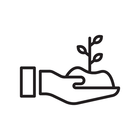 Illustration for Sprout icon vector isolated on white background for your web and mobile app design - Royalty Free Image