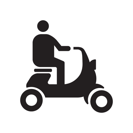 Illustration pour Scooter icon vector isolated on white background for your web and mobile app design - image libre de droit