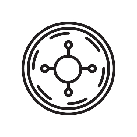 Roulette icon vector isolated on white background for your web and mobile app design, Roulette logo concept