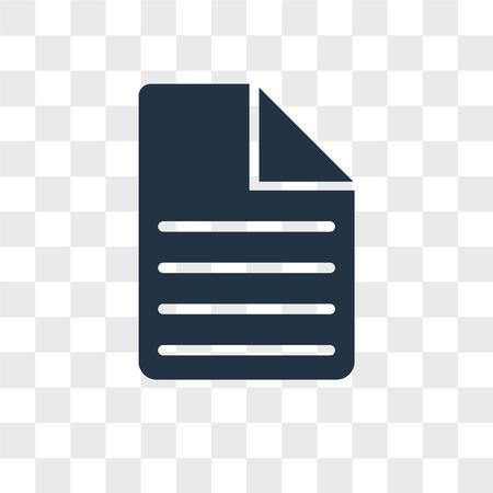 Illustration pour Document vector icon isolated on transparent background, Document logo concept - image libre de droit