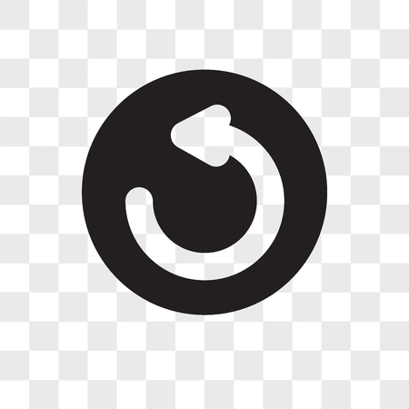 Illustration pour Refresh vector icon isolated on transparent background, Refresh logo concept - image libre de droit
