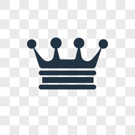 Illustration pour Crown vector icon isolated on transparent background, Crown logo concept - image libre de droit