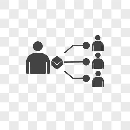 Illustration pour supplier vector icon isolated on transparent background, supplier logo concept - image libre de droit