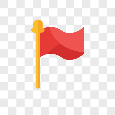 Illustration for Flag vector icon isolated on transparent background, Flag logo concept - Royalty Free Image