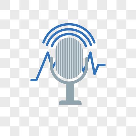 Illustration pour Voice recognition vector icon isolated on transparent background, Voice recognition logo concept - image libre de droit