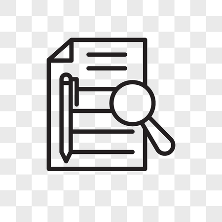 executive summary vector icon isolated on transparent background, executive summary logo concept