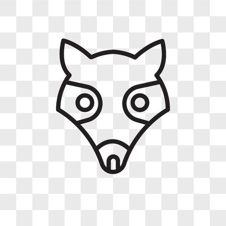 Illustration pour possum vector icon isolated on transparent background, possum logo concept - image libre de droit