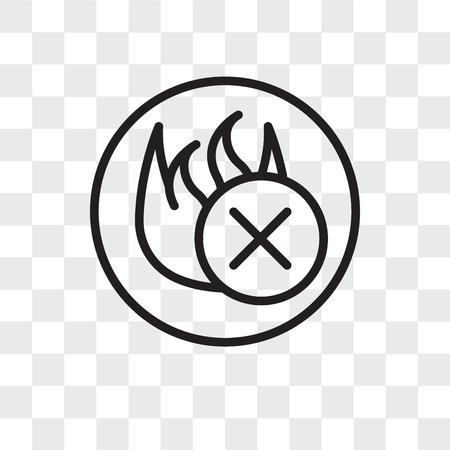 Illustration pour fire retardant vector icon isolated on transparent background, fire retardant logo concept - image libre de droit