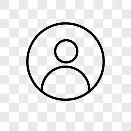 Illustration pour profile pic vector icon isolated on transparent background, profile pic logo concept - image libre de droit