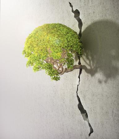 Photo pour Tree breaks free. Good concept for freedom and success concept. - image libre de droit