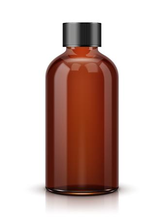 Ilustración de Brown Cosmetic Bottle on white background. - Imagen libre de derechos