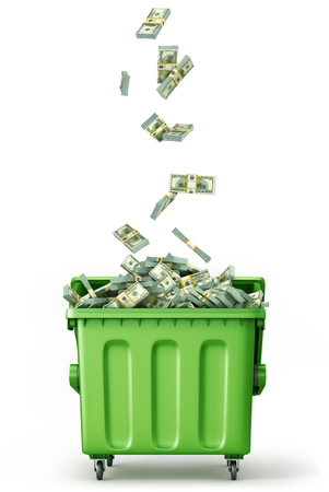 Concept of global garbage recycling.