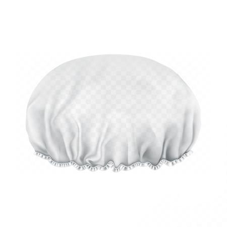 Illustration for Vector. Mock Up. White transparent Shower cap. Front side. - Royalty Free Image